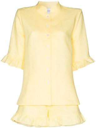 Sleeper Ruffle-Sleeve Button-Down Shirt