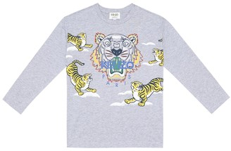 Kenzo Kids Printed cotton jersey top