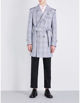 Thom Browne Checked Woven Trench Coat
