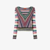 Missoni V-neck zig-zag stripe jumper