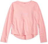 GUESS Long Sleeve Heart Cotton Top, Big Girls (7-16)