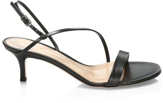 Gianvito Rossi Manhattan Leather Slingback Sandals