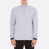 Lacoste Men's Zip Through Sweatshirt Silver Chine