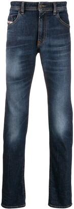 Diesel faded stonewashed slim-skinny jeans
