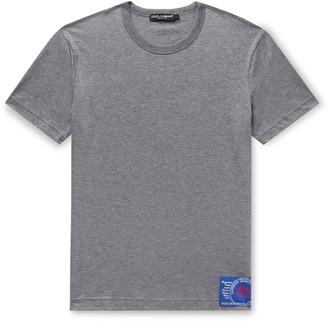 Dolce & Gabbana Slim-Fit Logo-Appliqued Cotton-Jersey T-Shirt