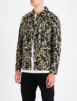 Sandro Camouflage-pattern cotton shirt