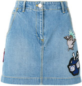 Kenzo embroidered cartoon skirt - women - Cotton - 34