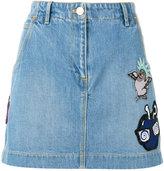 Kenzo embroidered cartoon skirt - women - Cotton - 40