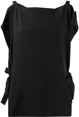 McQ Silk Cold Shoulder Blouse