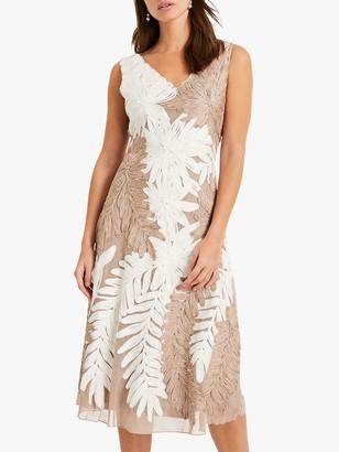 Phase Eight Denise Lace Dress, Ivory/Latte