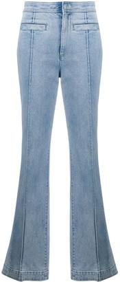 Tory Burch denim high rise flared jeans