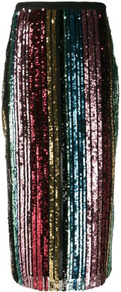 Antonio Marras Sequin Striped Mid-Length Skirt