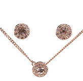 Givenchy Rose Gold & Pav Necklace & Earrings Set