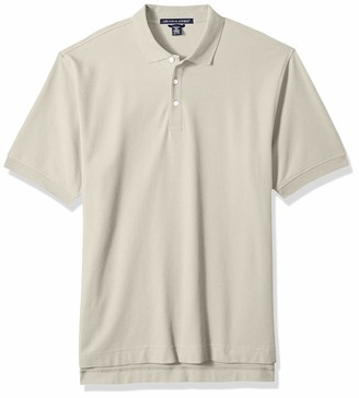 D And Jones D & Jones Men's DEJN-D100 Pima Pique Short-Sleeve Polo