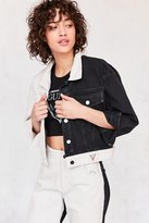 GUESS 1981 Colorblock Cropped Denim Jacket