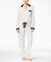 Kate Spade Contrast-Trimmed Printed Pajama Set