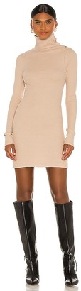 The Range Stark Jumbo Waffle Knit Turtleneck Mini Dress