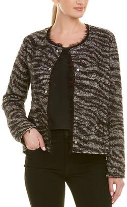 Isabel Marant Etoile Lycia Zebra Cropped Snap Jacket