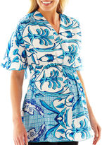 JCPenney Maternity Cinched-Waist Blouse