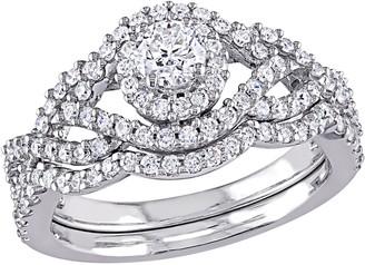 Affinity Diamond Jewelry Affinity 14K 0.95 cttw Round Diamond Bridal Ring Set