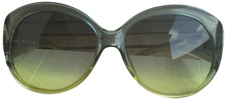 Christian Dior Green Plastic Sunglasses