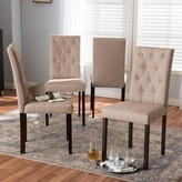 Baxton Studio Andrew Upholstered Dining Chair Ophelia & Co. Upholstery Color: Beige