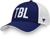 Women's Fanatics Branded Blue/White Tampa Bay Lightning Iconic Trucker Adjustable Hat