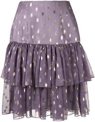 Bambah Ruffle Polka Dot Mini Skirt