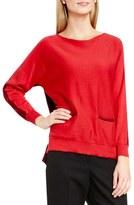 Vince Camuto Colorblock Boatneck Cotton Blend Sweater
