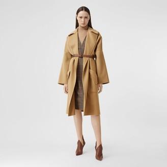 Burberry Pocket Detail Double-faced Cashmere Wrap Coat