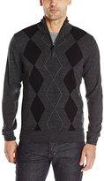 U.S. Polo Assn. Men's Long-Sleeve Quarter-Zip Soft Acrylic Argyle Sweater