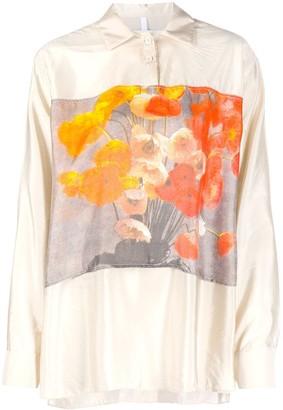 Soulland Arlene oversized floral print shirt