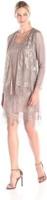 SL Fashions Women's Crochet Jacket Dress