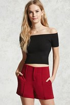 Forever 21 High-Waisted Crepe Shorts