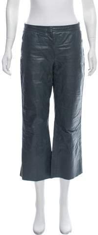Celine Leather Mid-Rise Pants