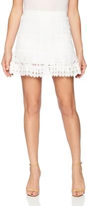 BB Dakota Women's Lucine Lace Ruffle Skirt