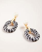 Ann Taylor Gingham Pearlized Drop Earrings