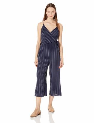 The Fifth Label Women's Sleeveless Cropped Wide Legged Seersucker Jumpsuit