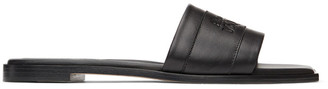 Alexander McQueen Black Leather Signature Slides