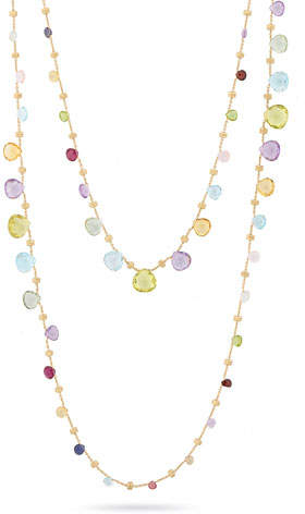 Marco Bicego Paradise Long Mixed-Stone Necklace, 48""