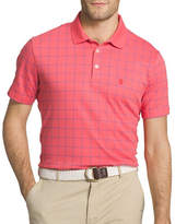 Izod Windowpane Interlock Polo