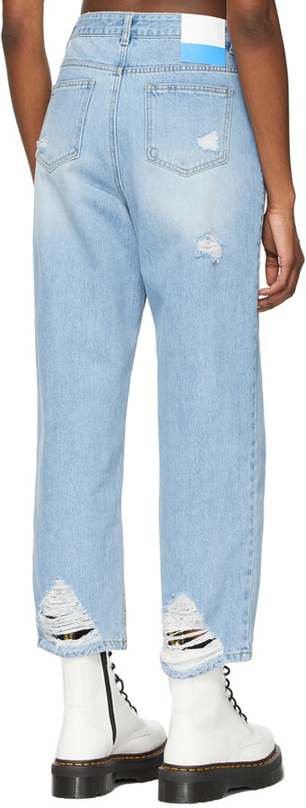 Thumbnail for your product : Sjyp Blue Boyfriend Fit Jeans