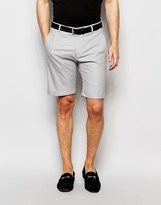 Selected Skinny Cotton Shorts with Turn Up and Stretch