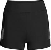 Capezio Black Mesh-Insert Shorts - Girls