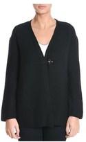 Fay Women's Black Wool Cardigan.
