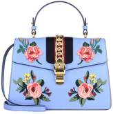 Gucci Sylvie embroidered leather bag