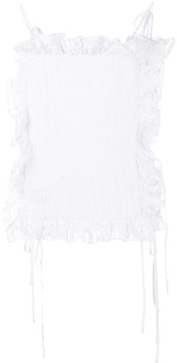 Cecilie Bahnsen Ruffled Smocked Camisole