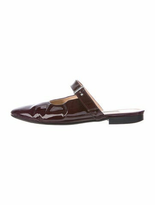 Emme Parsons Patent Leather Mules Brown
