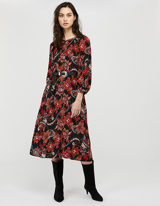 Under Armour Danny Paisley Print Midi Dress Black