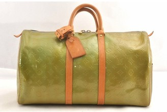 Louis Vuitton Green Patent leather Travel bags